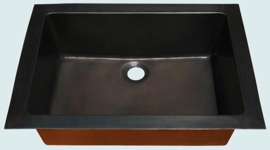 Bar Sinks - Bronze Bar Sinks- Bar &amp; Prep Sinks Bronze Bar Sinks - Bronze Rear Center Drain # 4000