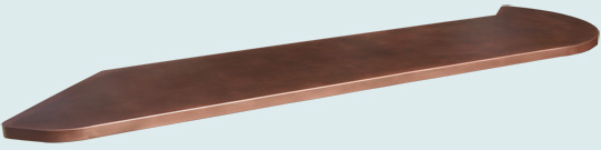Curved Copper Bar Tops # 3333