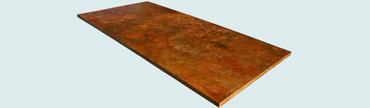 Countertops - Copper Countertops- Island Copper Countertops - Apricot Brandy Old World Patina # 3988