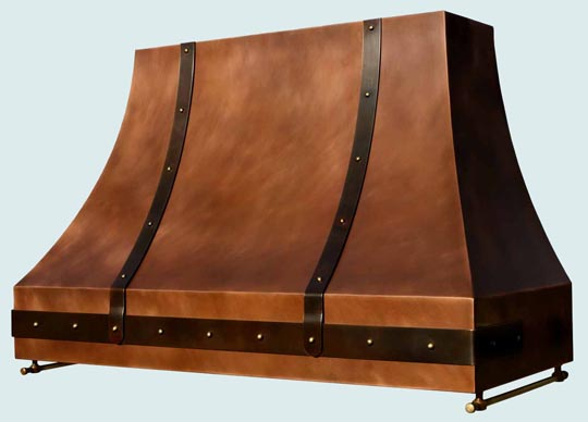 Copper  Range Hood  # 3148