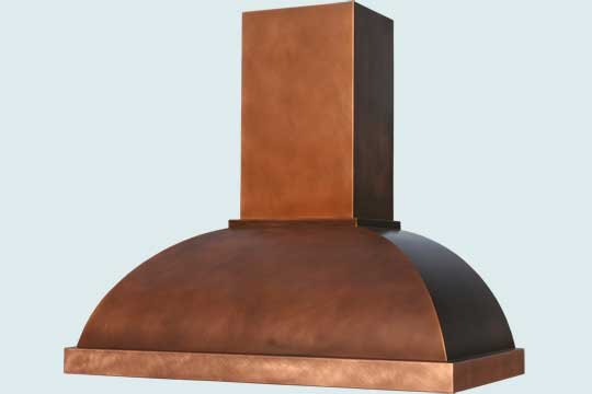 Copper  Range Hood  # 3164