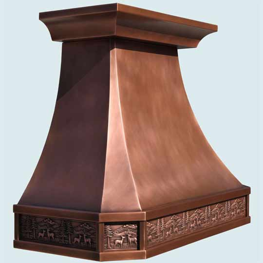 Copper  Range Hood  # 4210
