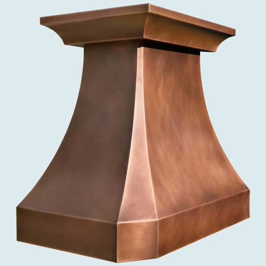 Copper  Range Hood  # 4453