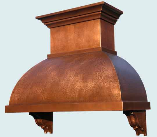 Copper  Range Hood  # 4539