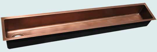 "Kitchen Sinks - Copper Kitchen Sinks- Trough Sinks Copper Kitchen Sinks - 60"" Trough # 4699"